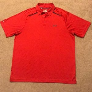 Red Under Armour Polo